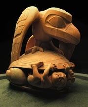 Museum Of Anthropology at UBC. This Image:The Raven and the First Men by Bill Reid.