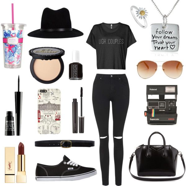 Untitled // 6 by lucywerta on Polyvore featuring polyvore fashion style Topshop Vans Givenchy Daisy Jewellery rag & bone Tommy Hilfiger Linea Pelle Polaroid Harrods Laura Mercier Lord & Berry Essie Lilly Pulitzer