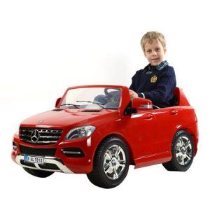 COCHE-NINOS-12V-Mercedes-ML350-Red-Painted-05E