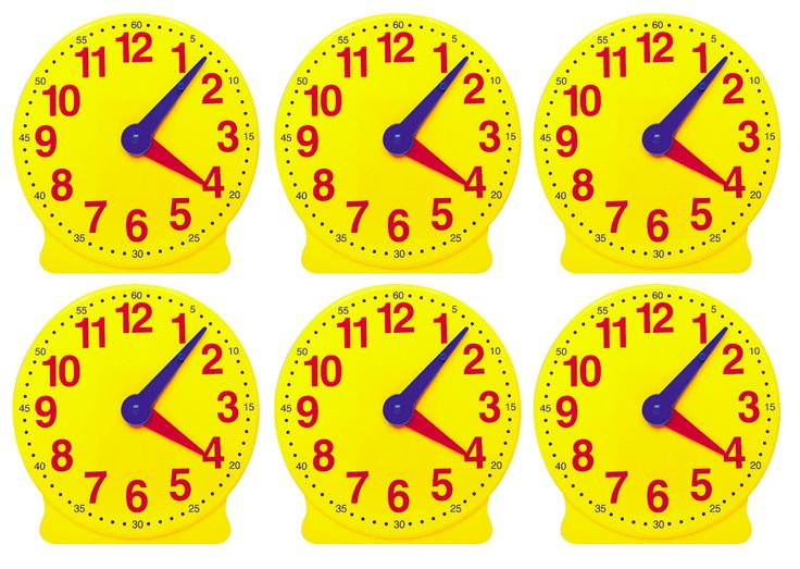 12 Hour Student Clock Set of 6