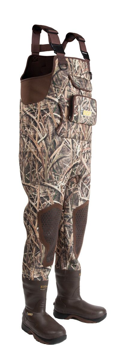 Rocky Waterfowler Mens Mossy Oak Neoprene WP Insulated Hunting Waders
