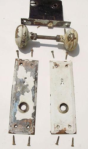 1920u0027s Complete Door Hardware Set Complete With Original Mortise Lock And  Mounting Screws.