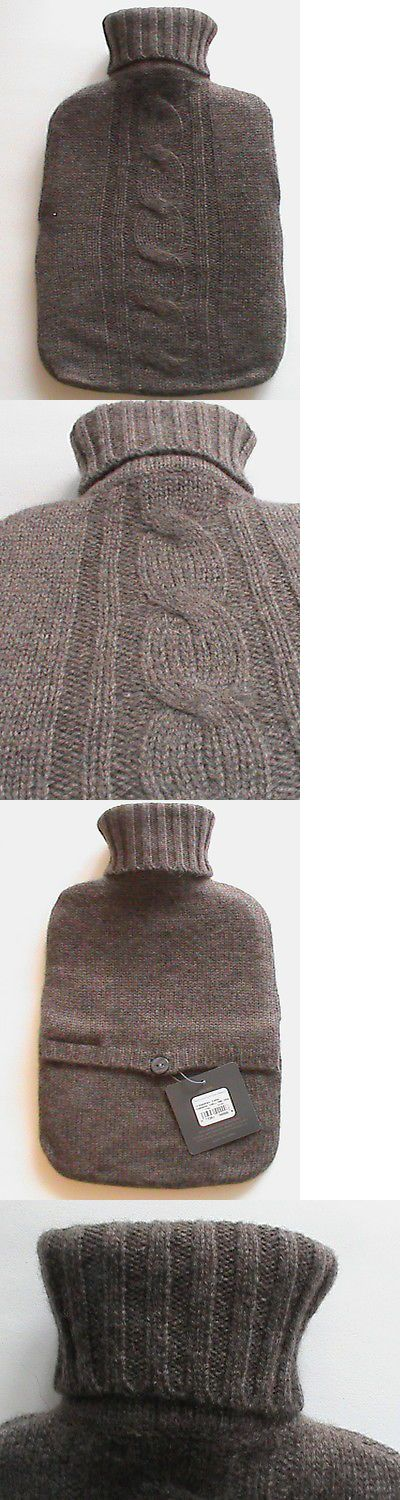 Hot Water Bottles and Covers: Restoration Hardware Nwt Hot Water Bottle Cable Knit Cashmere Cover Brown Vntg -> BUY IT NOW ONLY: $60.0 on eBay!