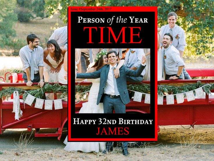 Time Magazine Person Of The Year Birthday Photo Booth