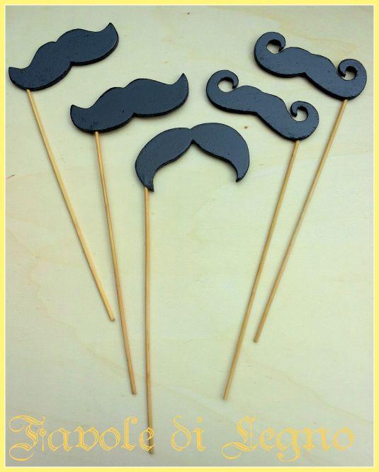 Tema Festa: Wooden Moustache / Baffi in legno per photoboot