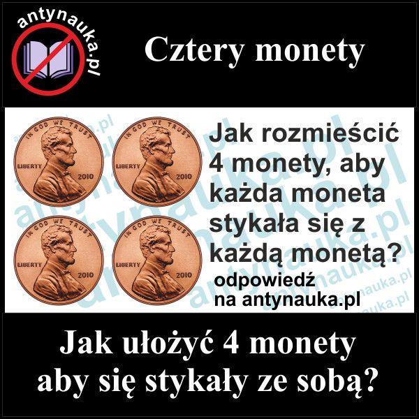 Zagadka logiczna, Cztery monety