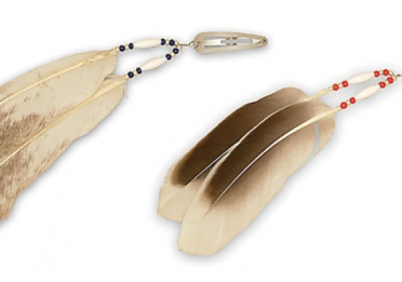 Native American Feather Hair Clip Tutorial