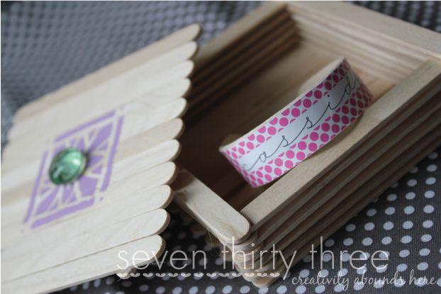 DIY Popsicle Stick Box Tutorial