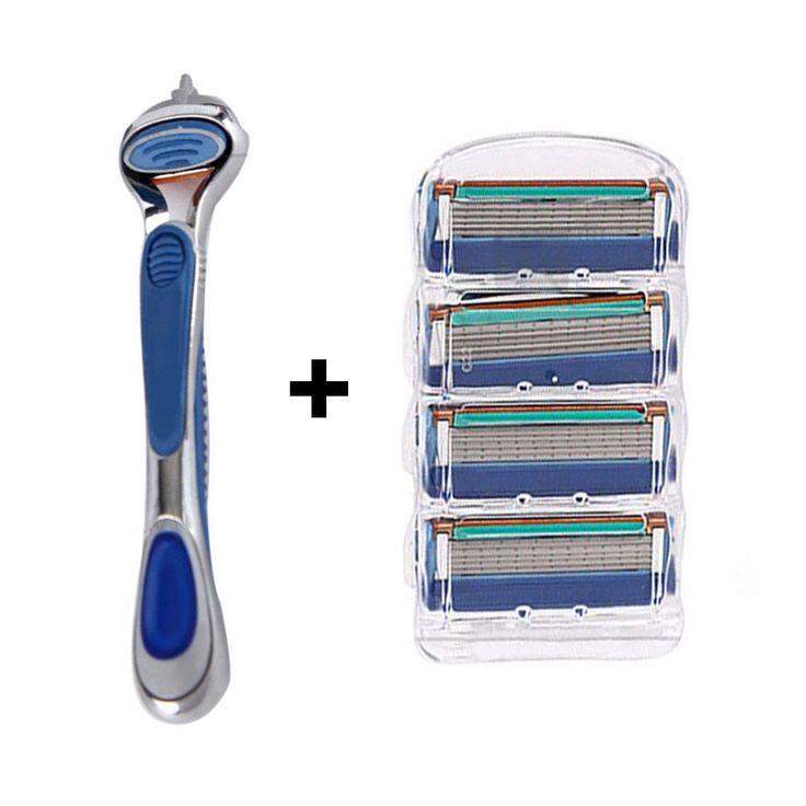 4pcs 5 Layer Razor Blades+1pcs Razor Holder Men'S Shaving Trimmer Shaver Standard Universal Blades Razor Set For Men #GM096 #clothing,#shoes,#jewelry,#women,#men,#hats,#watches,#belts,#fashion,#style