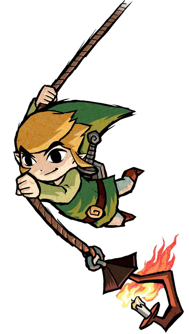 Link Rope Action - Characters & Art - The Legend of Zelda: The Wind Waker HD