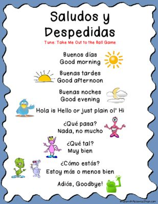25 best ideas about spanish greetings on pinterest