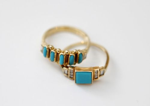 Have been searching for turquoise rings that don't scream SOUTHWEST & these are perfect #Mociun