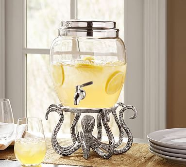 Octopus Drink Dispenser Stand - and maybe cake or platter stand? Would go great with all my sea life dishes and servers. Just bought with my $25 off coupon if you spend $50 or more....couldn't resist!