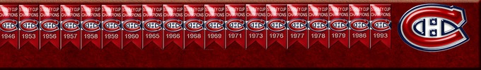 Montreal Canadiens Stanley Cups