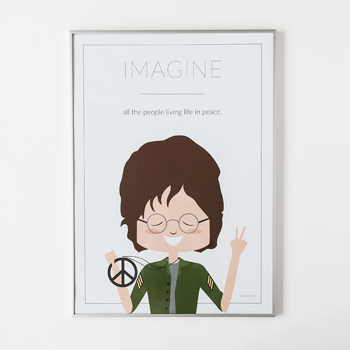 Póster - Imagine all the people living life in peace