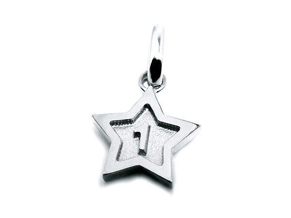 pt900 platinum number 1 pendant charms star frame ナンバー 1 数字 プラチナ スター all numbers on official online shop(0-9)