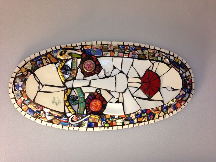 "Mosaic platter face ""Elrod"""