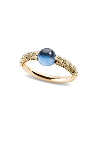 Pomellato M'Ama Non M'Ama Topaz and Brown Diamond Ring