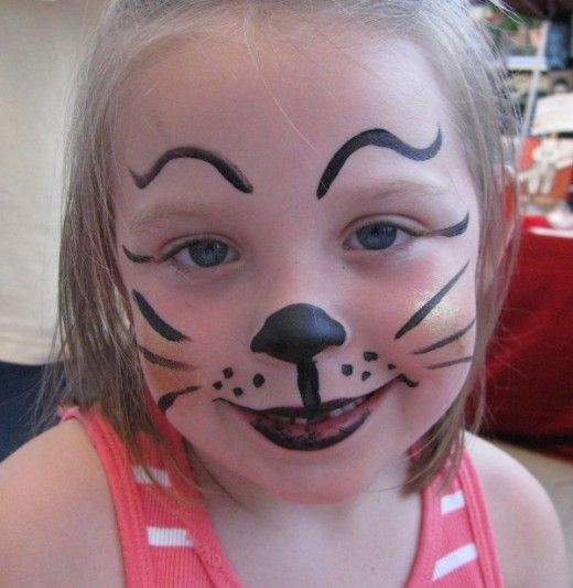 Simple Face Painting Designs For Cheeks | Cat Face Painting for Children: Designs, Tips and Tutorials
