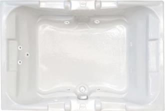 Majestic 6 Foot Two Person Whirlpool Bathtub, Air Tub and Combination Bathtub