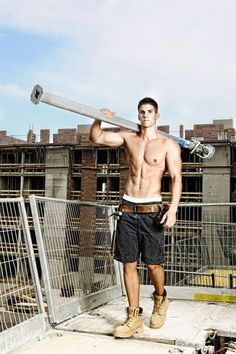 Hot Construction Worker Muscle Jock With 6 Pack Abs And V Cut