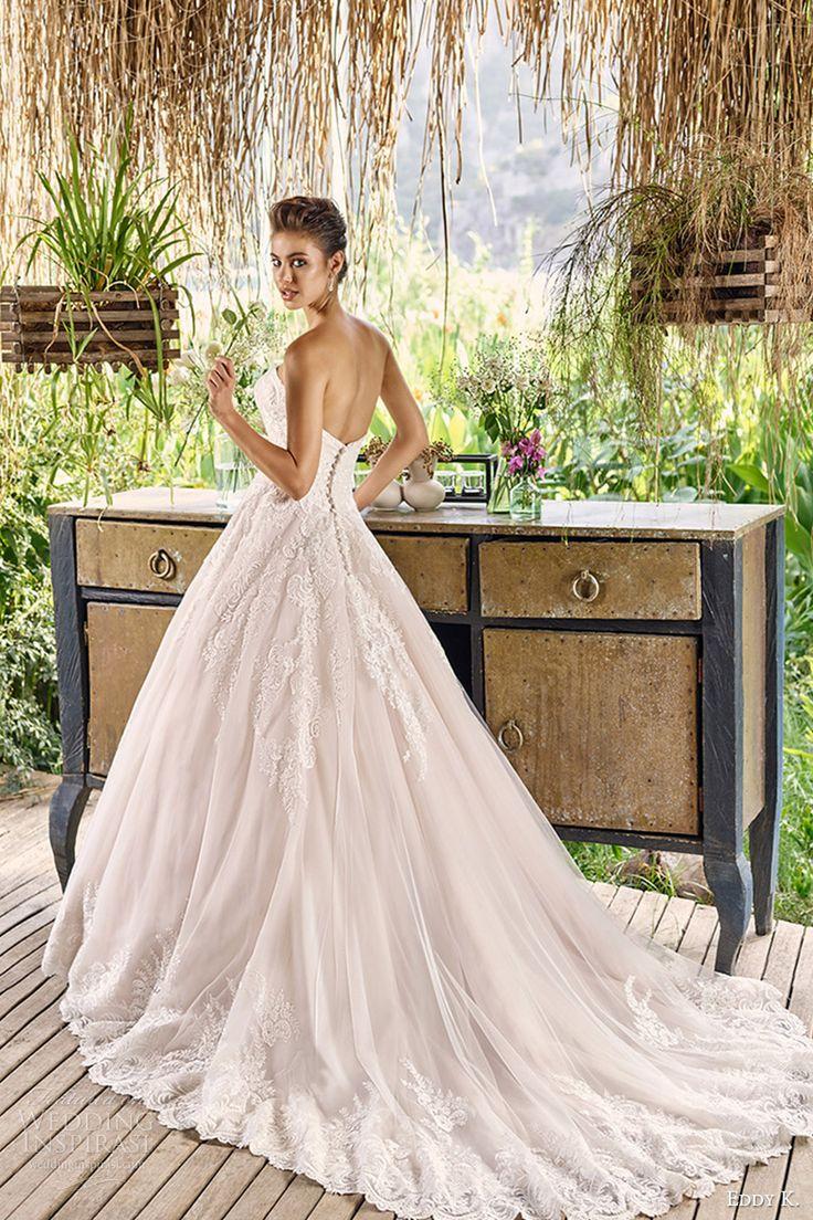 eddy k bridal 2017 strapless sweetheart aline ball gown lace wedding dress (napa) mv romantic elegant