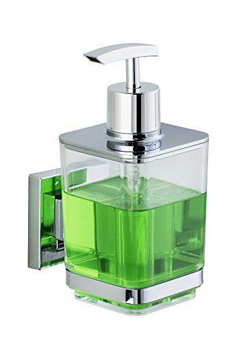 WENKO 22683100 Distributeur de savon Quadro Vacuum-Loc, ABS/Acier Inoxydable, 7,5 x 16 x 10 cm #WENKO #Distributeur #savon #Quadro #Vacuum #Loc, #ABS/Acier #Inoxydable,