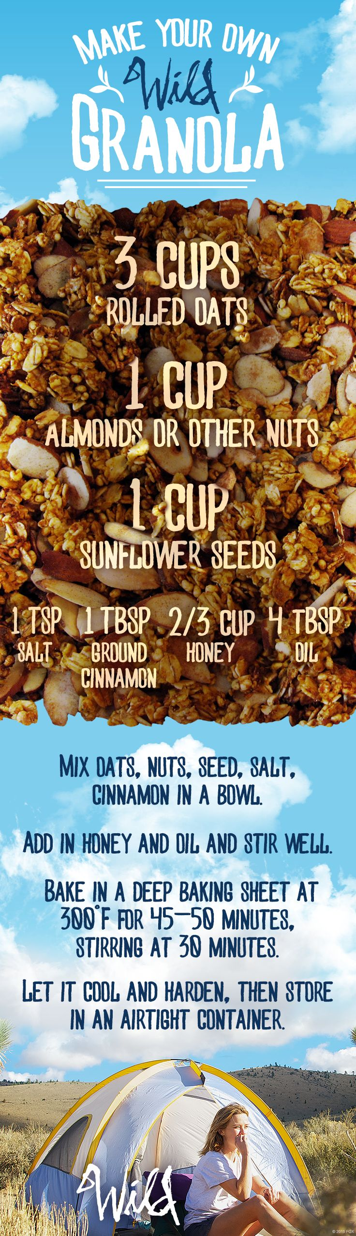 Take this homemade granola with you on your own Wild journey. #WildMovie Watch it on Digital HD! http://www.foxdigitalhd.com/wild