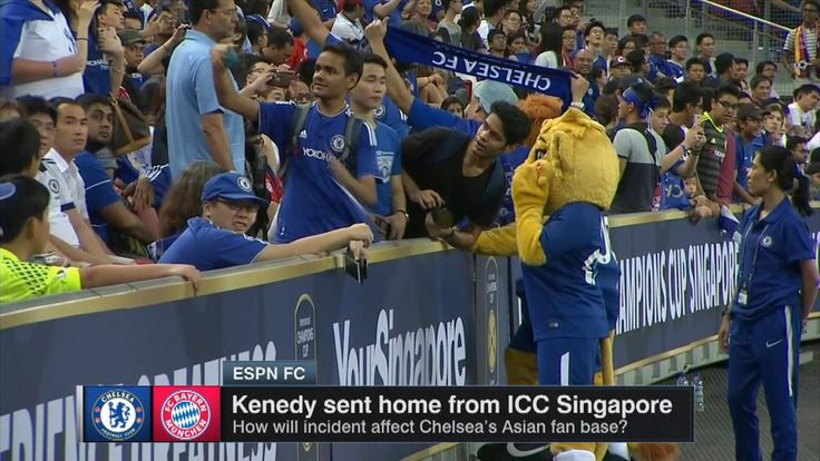 How will Kenedy incident affect Chelsea's fan base in Asia?