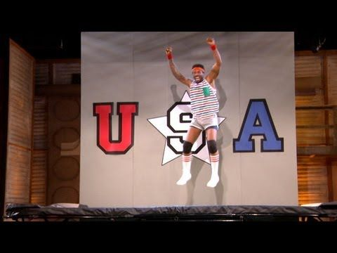 ▶ Deon Cole Makes Black Olympic Trampoline History - CONAN on TBS - YouTube