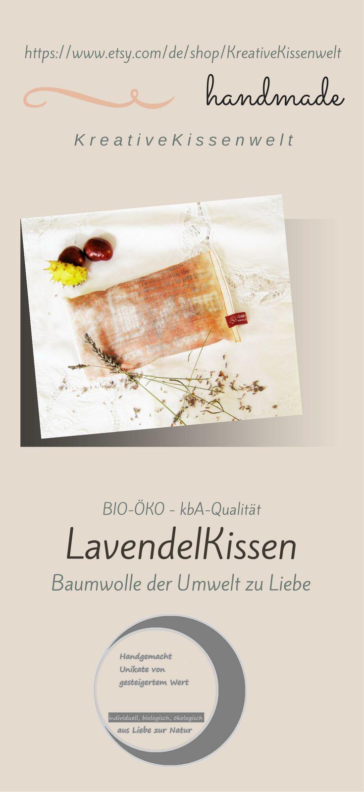 """BIO Lavendel Duftkissen bedruckt , Lavendel kbA Qualität, Eigenanbau, Dinkelspelz ökologischer Anbau vom BIO-Hof, 22x12 cm, 8""""x5"""","""