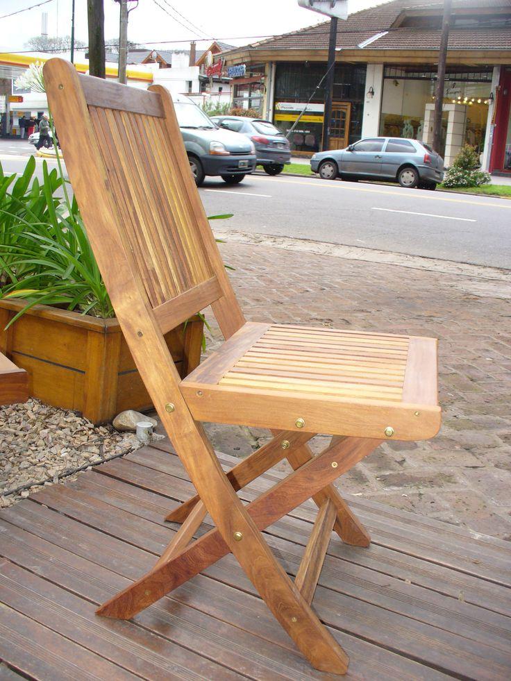 17 best images about sillas y bancos de madera para for Banco de madera exterior