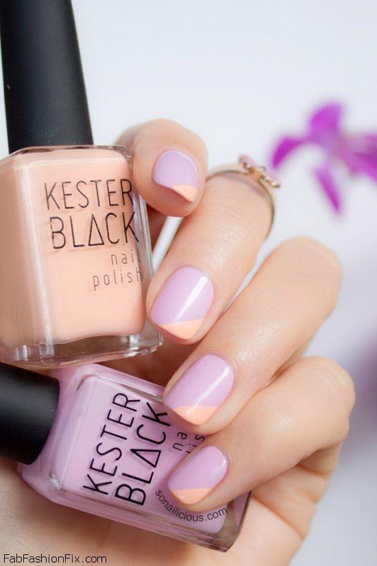 Pastel nails perfect for spring, lilac, nude nail color, nails, short nails, romantic, colors