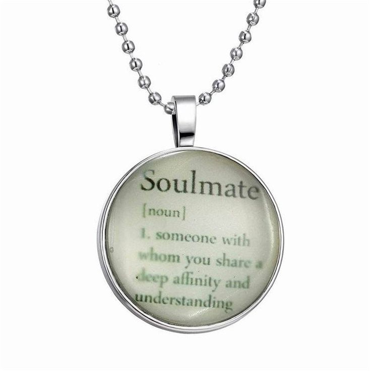 Glow-In-the-Dark Soulmate Definition Bubble Necklace