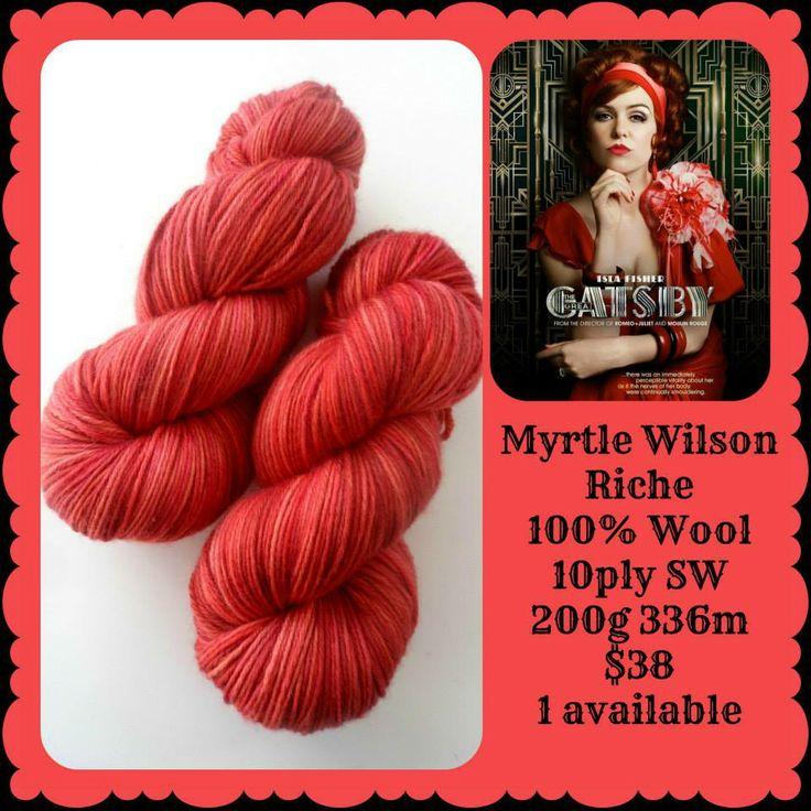 Myrtle Wilson - The Great Gatsby | Red Riding Hood Yarns