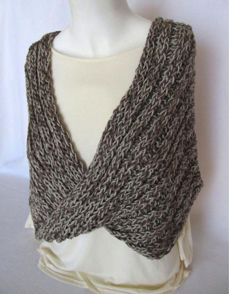 Knitting Instructions For Mobius Scarf : Grey Mobius Shawl (loom knit) Loom knitting Pinterest