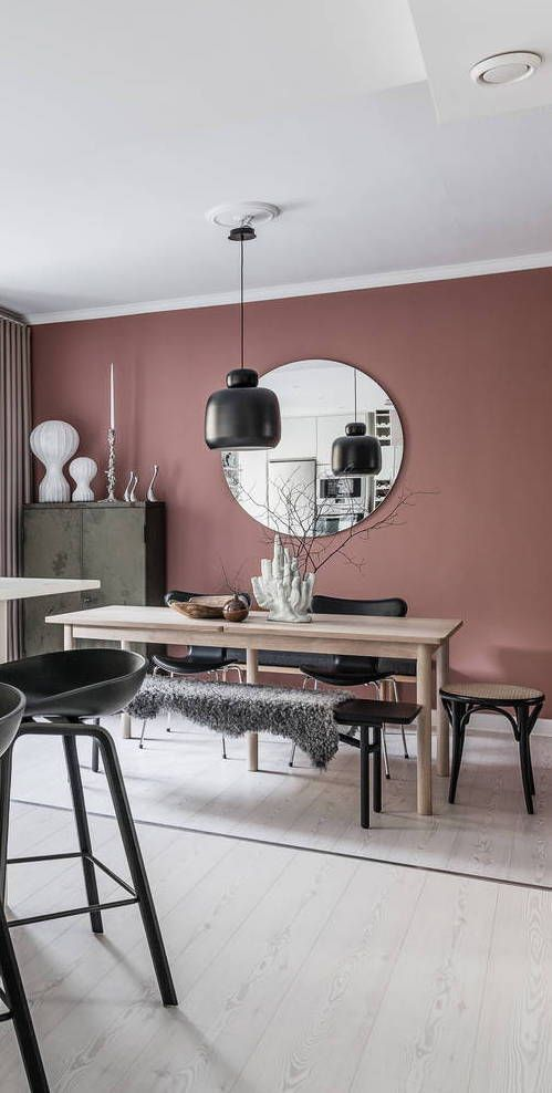 Idées De Déco Pour Un Salon Rose Et Noir #LampWohnzimmer