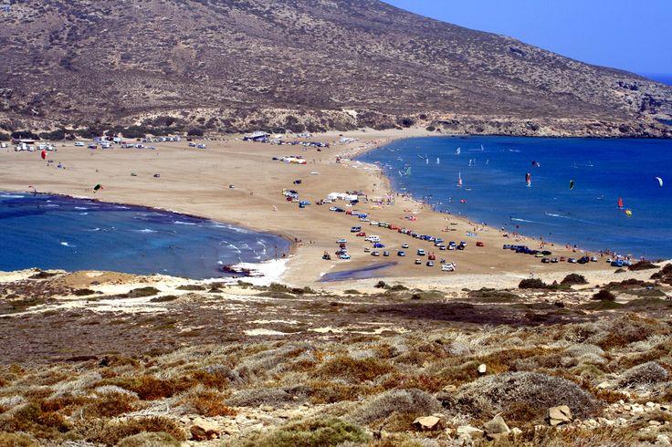 Prasonisi beach, Rhodes, Greece.
