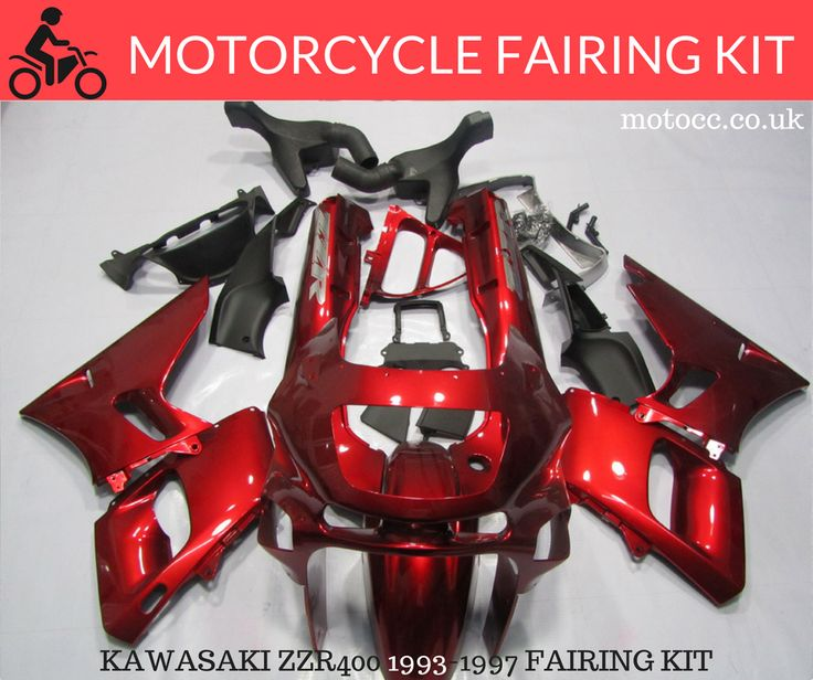 KAWASAKI ZZR400 1993-1997 FAIRING KIT  Made via the Injection Mould process.  This means it provides as close fit as the OEM panels.  This kit is made up of 25 pieces  Made in ABS plastic  Comes with free Screen.  Injection Moulded - Photos are of a compression kit but very simular.  http://www.motocc.co.uk/acatalog/KAWASAKI-ZZR-400-93-97-RED-FAIRING-KIT.html  #motocc #motoccuk #motorcyclefairings #motorcyclebodywork #hondafairings #UnitedKingdom #UK
