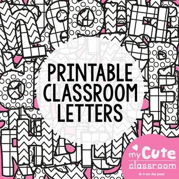 Printable Letters for the Classroom {Bulletin Boards + Decor}