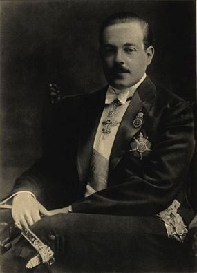 King Manuel II of Portugal (born 15th November, 1889 - died 2nd July, 1932) was the last king of Portugal and the last member of the House of Braganza.  His reign ended with the dissolution of the monarchy in the 5 October 1910 revolution, and Manuel lived the rest of his life in exile. He was dedicated to the study of literature, penning treatises on Medieval and Renaissance literature in Portugal.