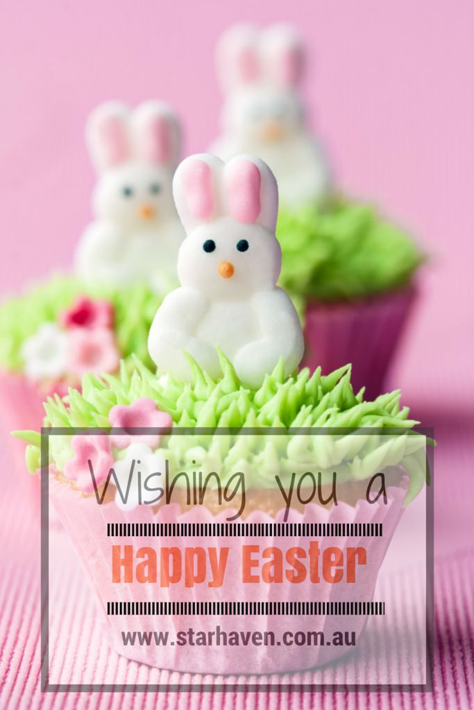 "Wishing all of our lovely family, friends and followers a Happy Easter... And lots of Easter goodies. ""You should be here!""™ www.starhaven.com.au"