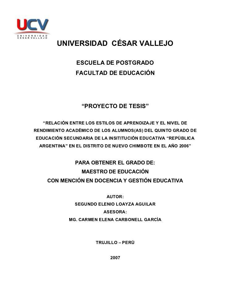 UNIVERSIDAD CÉSAR VALLEJO                  ESCUELA DE POSTGRADO                 FACULTAD DE EDUCACIÓN                     ...