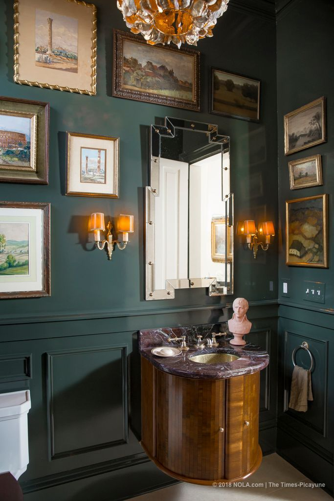 Powder Room Walls Painted In Benjamin Moore Waller Green New Orleans Easy 2018 Pinterest Wall Painting And