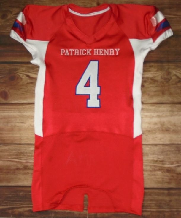 77191a8ac99 Patrick Henry Patriots Football custom jerseys created at Team Sports Inc  in Holland, OH! Create your own custom uniforms at www.garbathletics.com!