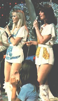 Ahh, the catsuits . . . iconic. My two sisters and I had perfect replicas made for us (including our own names on the back, just like Abba) by a family friend who was a dressmaker. A rock star moment from my otherwise ordinary suburban childhood.