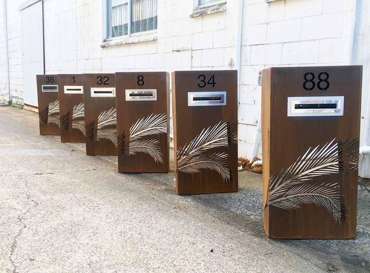 Custom Corten Steel Letterbox Mailbox Etc In 2019 Post