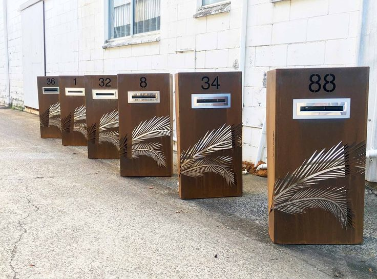 Custom Corten Steel Letterbox