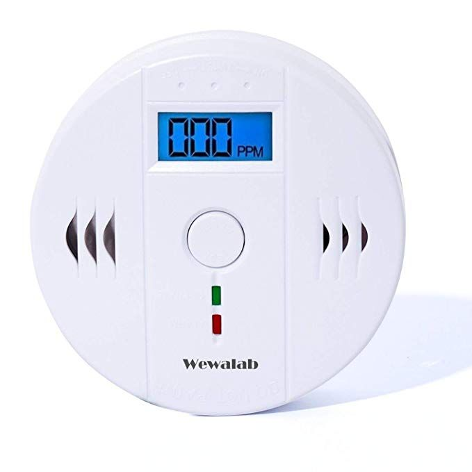 Co Detector Carbon Wewalab Monoxide Alarm Lcd Portable Security Gas Co Monitor Battery Powered Battery Not Included Review Detector Lcd Alarm