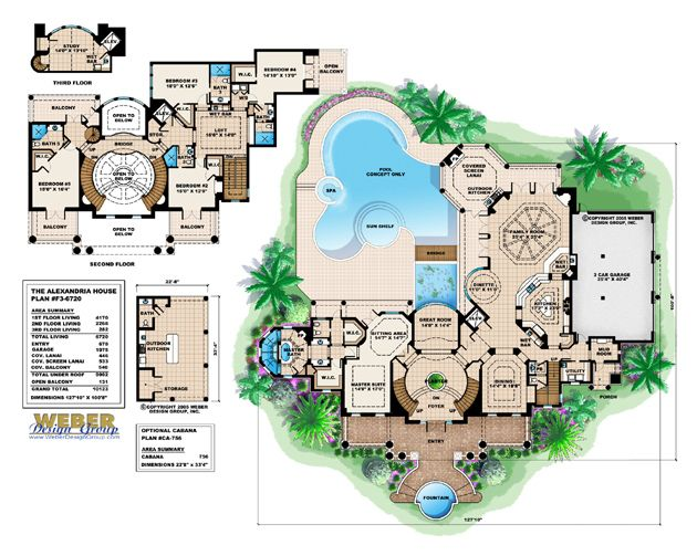 Monster Floor Plan Alexandria House Plan By Weber Design Group